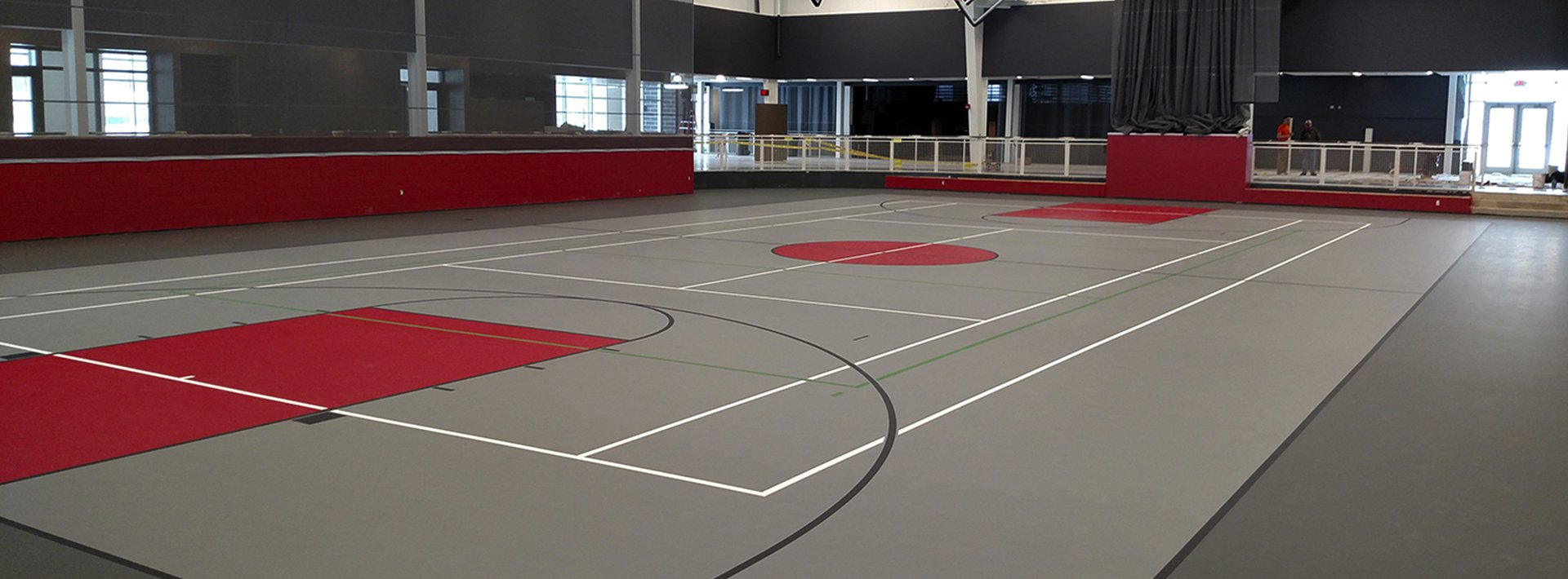 Synthetic basketball courts for Sports court