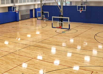 Hardwood basketball courts for Basketball gym floor plan