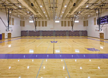 Basketball court floors gurus floor for Basketball gym floor plan